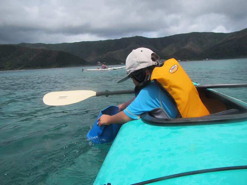 6歳のシーカヤック挑戦@奄美大島